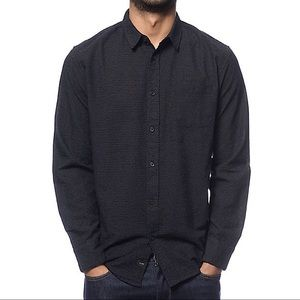 Globe Shirts - Men's Globe Austin Dot Black Long Sleeve Button Up